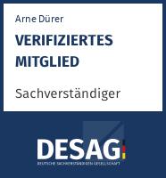 DESAG Sachverständigen-Zertifikat: arne.duerer