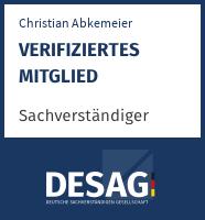 DESAG Sachverständigen-Zertifikat: christianabkemeier