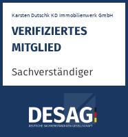 DESAG Sachverständigen-Zertifikat: Karsten Dutschk KD Immobilienwerk GmbH