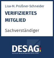DESAG Sachverständigen-Zertifikat: Lisa-Marie Prüßner